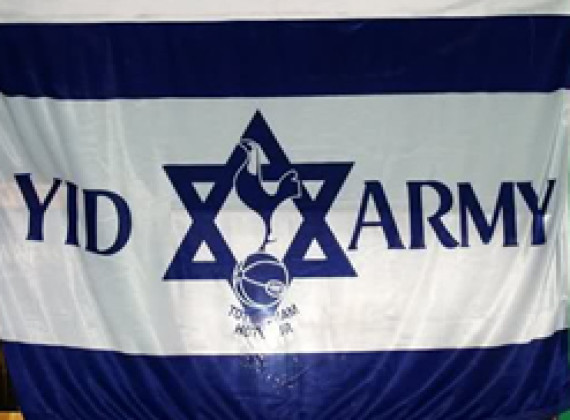 Tottenham Yid Army flag