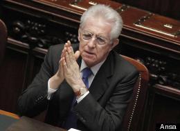 Mario Monti in Parlamento