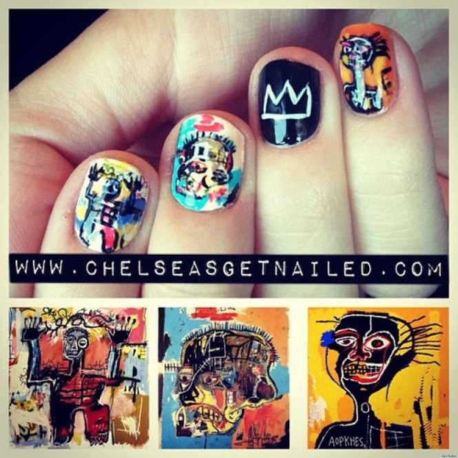 Diy Nail Ideas Jean Michel Basquiat Art And More Of Our Manicures From This Weekend Photos Huffpost