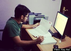 trabajando