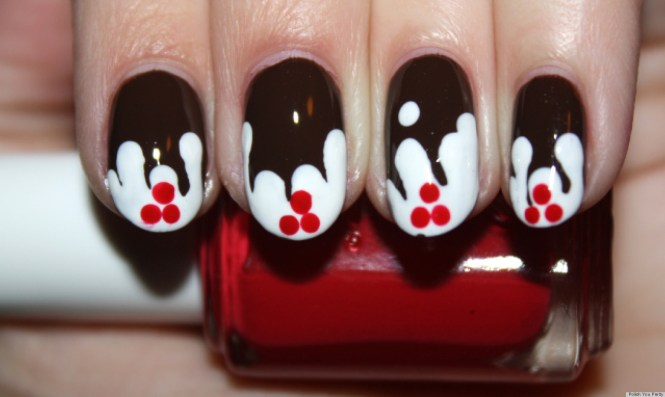 Diy Nail Art Christmas Gift Bo Manicure Photos The Huffington Post