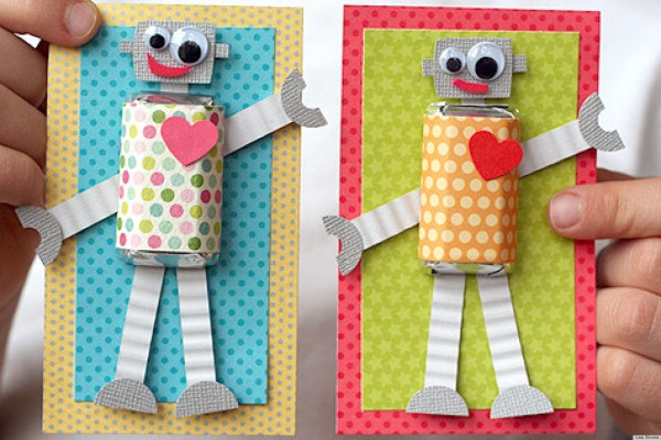 Valentine's Day Ideas: Make These Adorable DIY Robot Cards ...