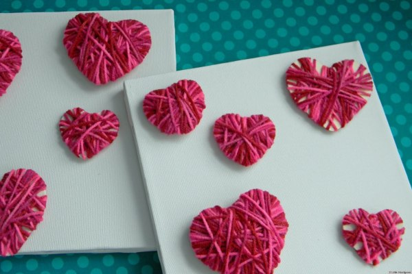 Valentine's Day Ideas: Make These Easy Yarn Hearts With ...