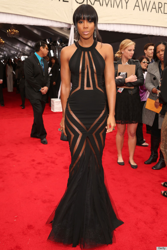 kelly rowland grammys dress 2013