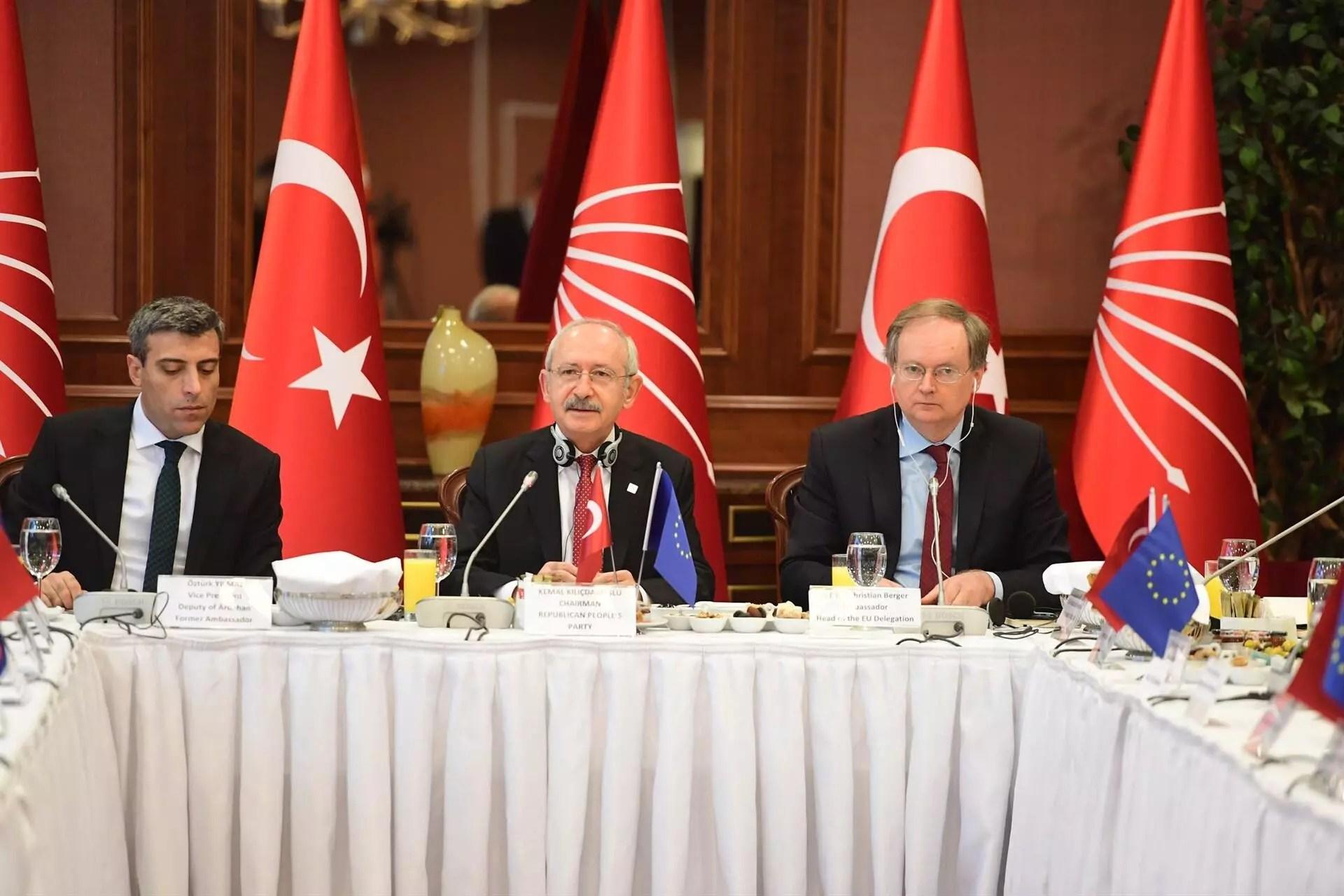 Main opposition CHP leader Kılıçdaroğlu meets EU ambassadors in Ankara