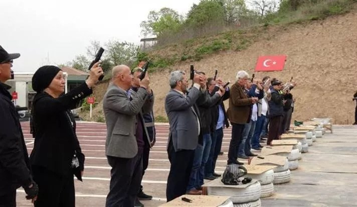 Turkish neighborhood heads given firearms training at shooting range