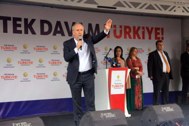 Opposition presidential candidate İnce vows 'peace, development and sharing' in Turkey's southeast