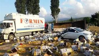 Balıkesir'de zincirleme kaza... Ortalık savaş alanına döndü