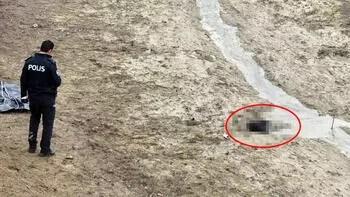 Balçığa saplanmış erkek cesedi bulundu