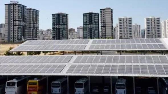 Türkiyenin ilk güneş enerjili otogarı