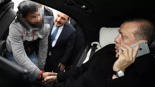 Cumhurbaşkanı Erdoğan Boğaziçi Köprüsü'nde bir intiharı önledi