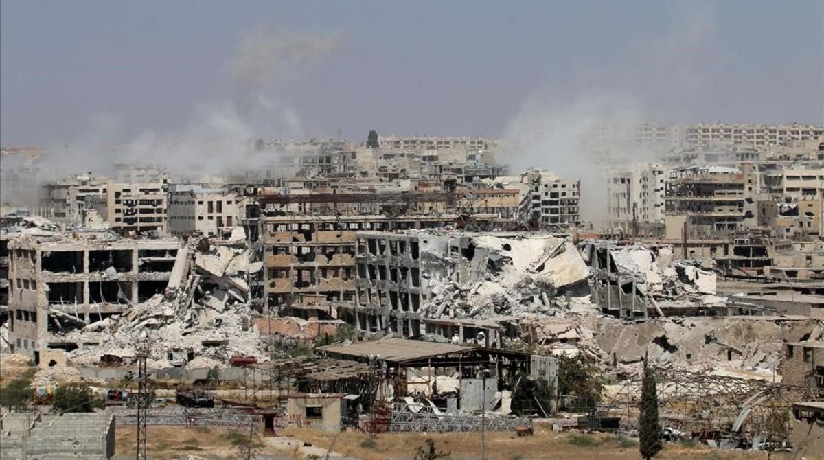 Los habitantes de Alepo presentan síntomas de una probable exposición a armas químicas