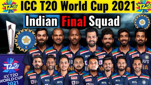 India Squad List 2021