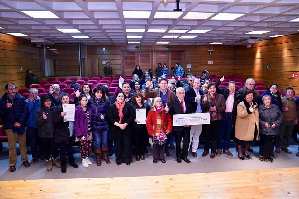 136 familias de Diguillín ya tienen sus subsidios de vivienda.