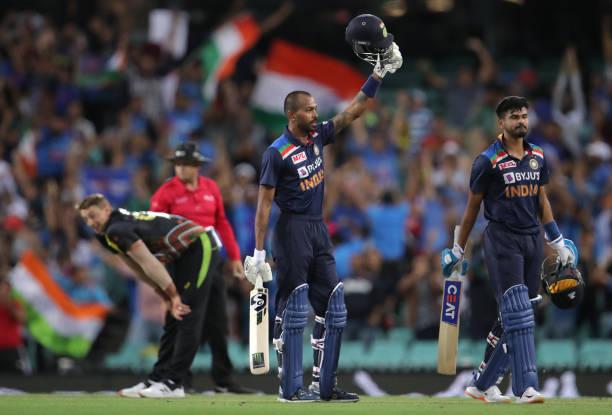 Hardik-Pandya-and-Shreyas-Iyer-of-India-celebrate-winning-game-two-of-t