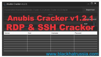 ANUBIS CRACKER V.1.2.1 BRUTE FORCE SSHRDP