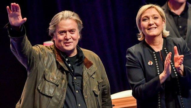Steve Bannon, en Francia para apoyar a Marine Le Pen en las europeas