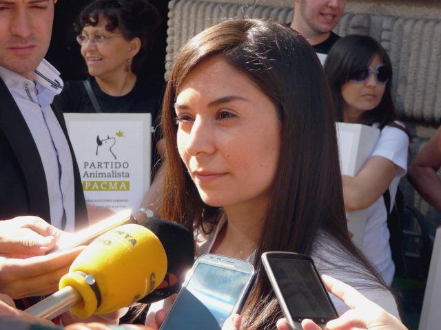 """Laura Duarte, candidata a la presidencia por PACMA, valora los dos escaños del CIS: """"Nuestro posicionamiento frente a las políticas de la crispación, la violencia y el odio sigue creciendo de forma imparable"""""""