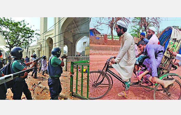 হাটহাজারীতে পুলিশ-হেফাজত সংঘর্ষ, নিহত ৪, রণক্ষেত্র বায়তুল মোকাররম