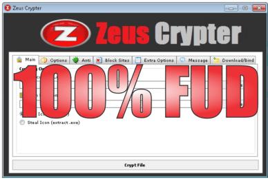 Zeus Crypter 100% FUD