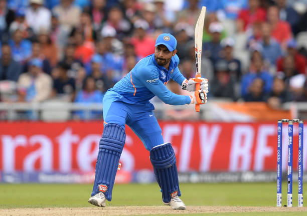 MANCHESTER-ENGLAND-JULY-10-Ravindra-Jadeja-of-India-hits-out-during-the-ICC-Cricket-World-Cup-Semi-F