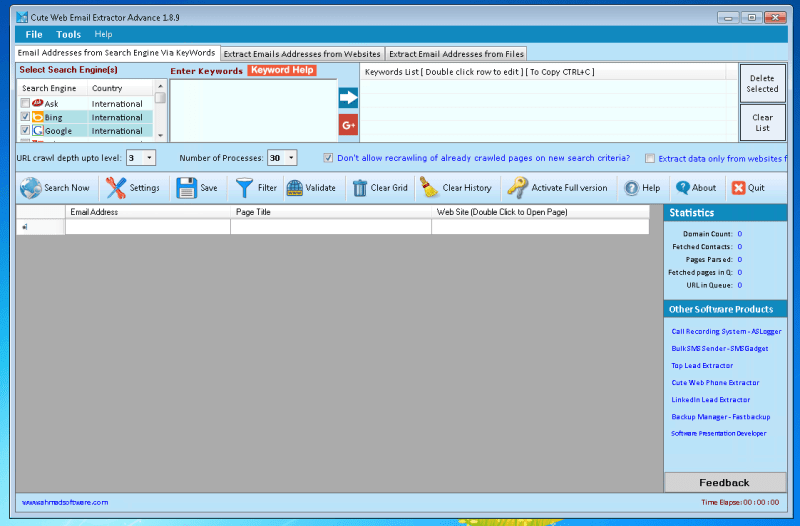 Cute Web Email Extractor Advance v1.8.9 Cracked