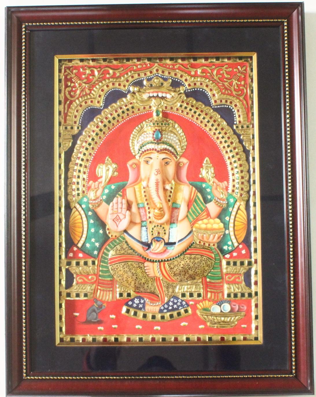 Vinayagar-Thanjavur-Painting