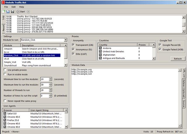 Diabolic Traffic Bot v6.40 – Cracked