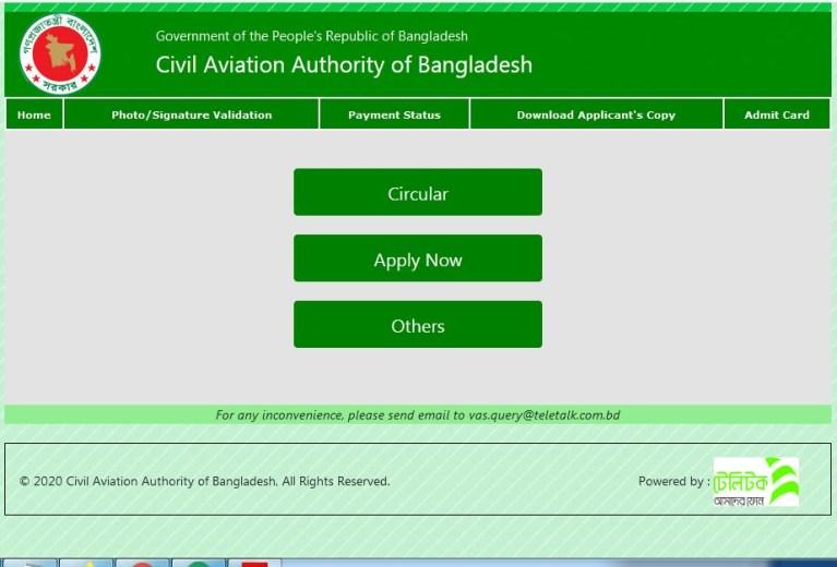 Caab-online-application