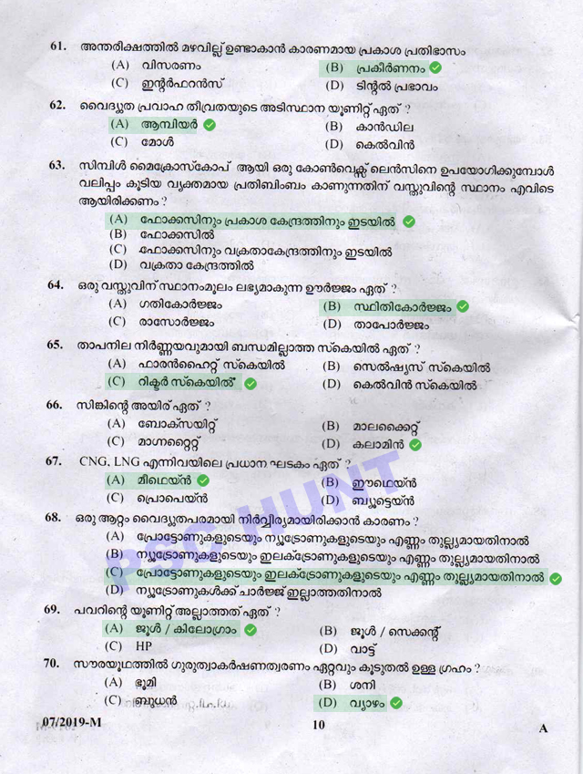 Peon Attender Solved Question Paper 09/02/2019
