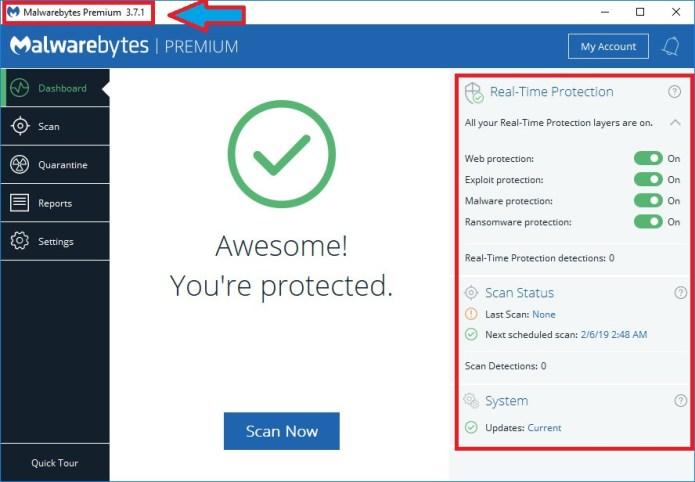 Resultado de imagen para Malwarebytes Premium v3.7.1.2839