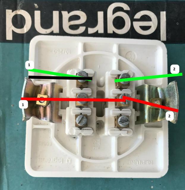 remplacement double interrupteur