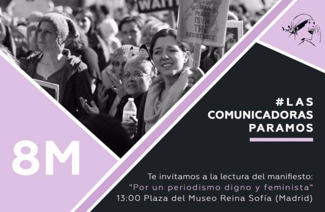 MANIFIESTO: Por un periodismo digno y feminista y por representaciones paritarias en los medios de comunicación