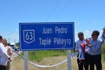 """Se cumplen dos años de la designación a un tramo de la Ruta N° 63 como """"Juan Pedro Tapié Pineyro"""""""