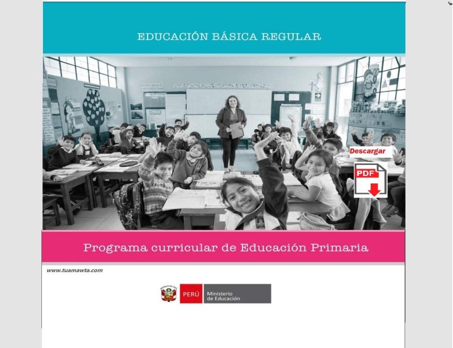 Programa Curricular De Educación Primaria Ebr Minedu Gob