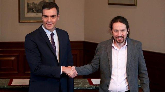 Odio y crispación entre PP, Vox y Cs auspiciado por los medios tras el pacto entre PSOE y Unidas podemos