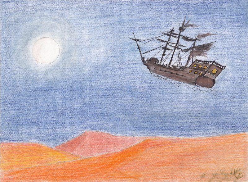 Un cuento de navidad   El barco que volaba sobre el desierto, por Julio Mateos