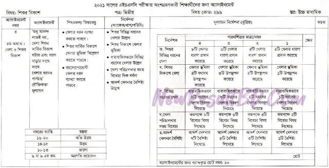 HSC Sisur Bikash 7th Week Assignment 2021