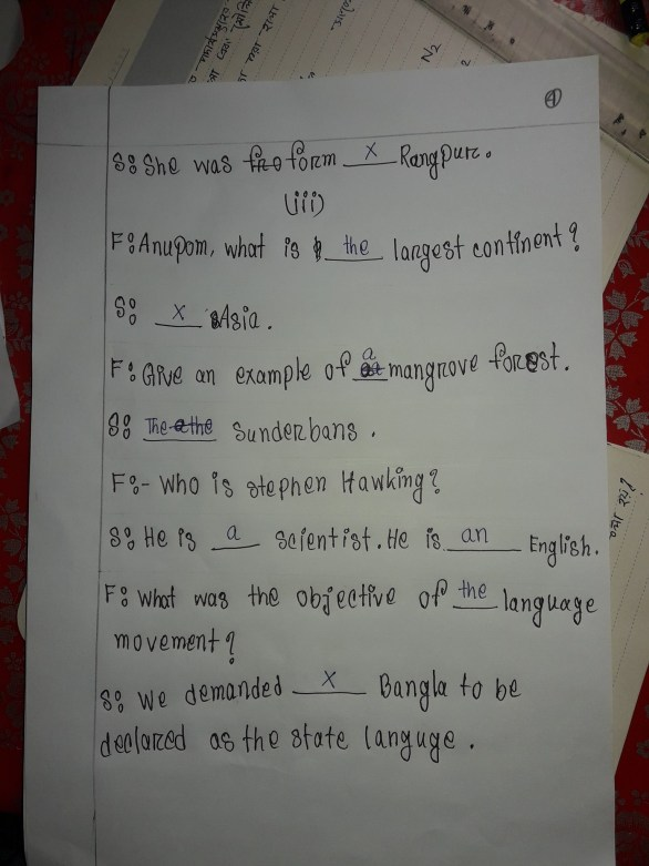 Class-Seven-4th-Week-English-Assignment-Answer