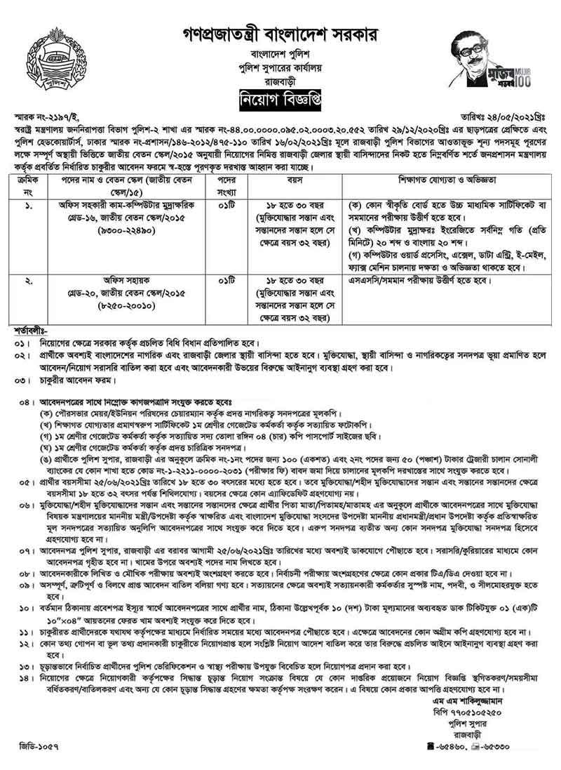 Bangladesh-Police-Job-Circu