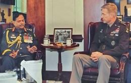 মার্কিন সেনাপ্রধানের সাথে জেনারেল আজিজ আহমেদের সাক্ষাৎ