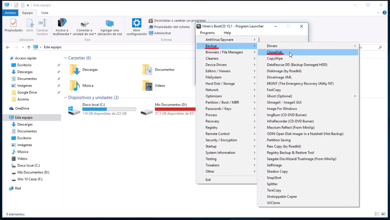 clonar disco duro mac desde windows