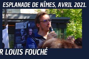 Intervention du Dr Louis Fouché sur l'Esplanade de Nîmes (Sous-titré)