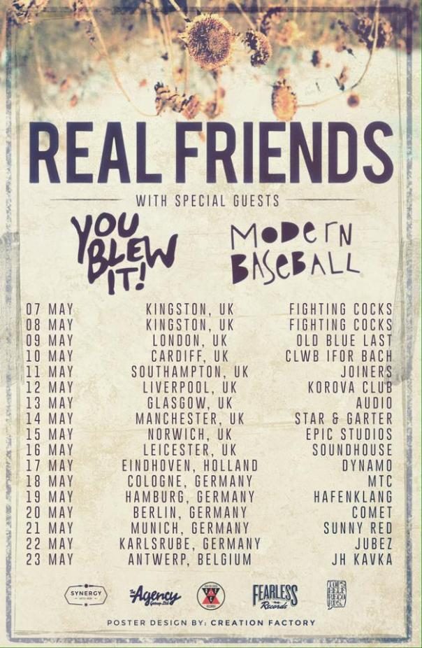 real friends uk tour