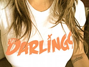 the darlings, darlings t shirt, the darlings, girl, blonde girl model t shirt