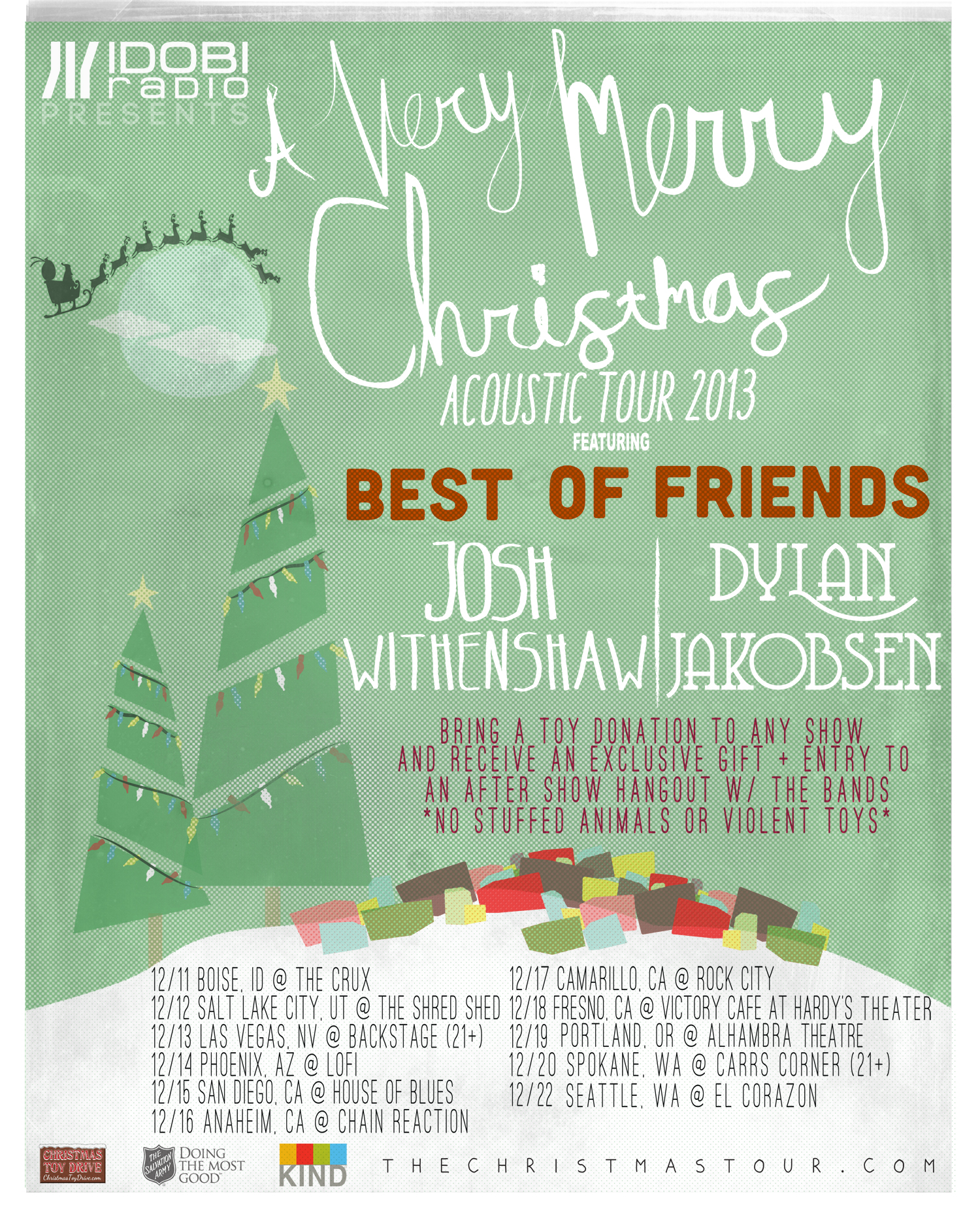Idobi Presents A Very Merry Christmas Acoustic Tour Idobi