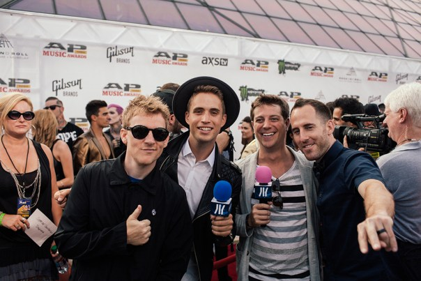 Your beloved idobi hosts. Left to right; Josh Madden, Brian Dales, Gunz, and Chuck Comeau