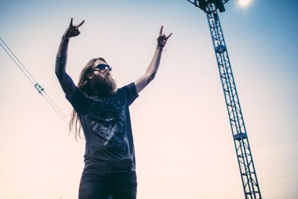 Jonathon Davis of Korn performs with Asking Alexandria