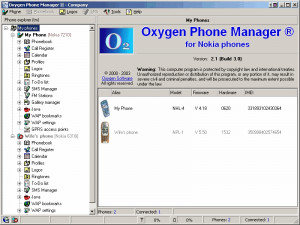 Oxygen Phone Manager II for Nokia Phones náhled pro download