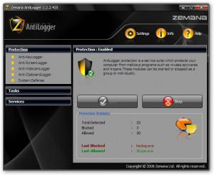 Zemana AntiLogger náhled pro download